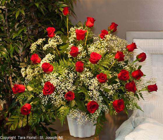 Rose Tribute with 24 Roses