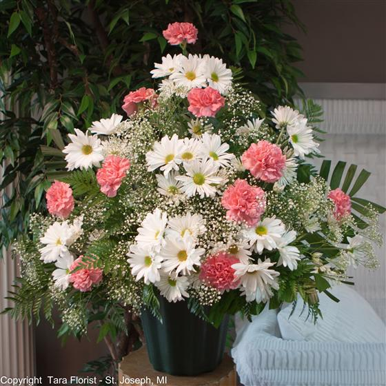 Sympathy Tribute - Pinks and Whites