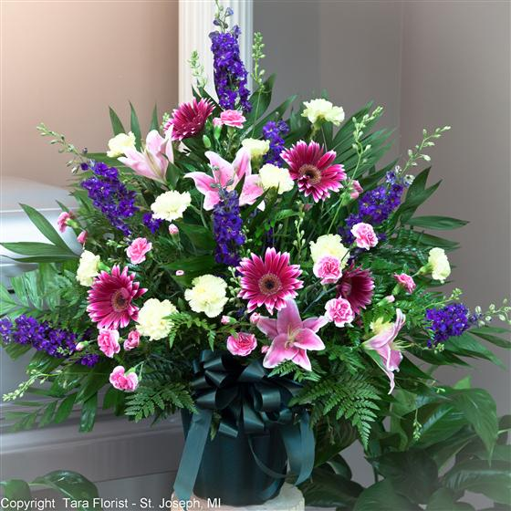 Sympathy Tribute -  Purple, Pinks and Lavender